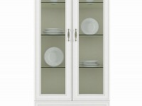 Шкаф с витриной Tiffany вудлайн кремовый