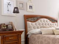Кровать, мягкое изголовье с ковкой без изножья Palazzo Ducale Ciliegio