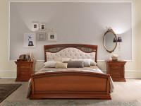 Кровать, мягкое изголовье с ковкой и изножьем Palazzo Ducale Ciliegio