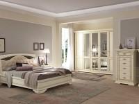 Кровать, мягкое изголовье с ковкой без изножья Palazzo Ducale laccato