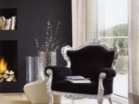 Кресло VOGUE Серебро (ткань вельвет)