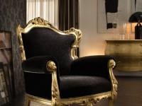 Кресло VOGUE Золото (ткань вельвет)